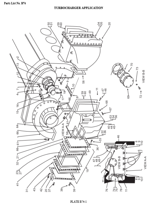 645 Emd Turbocharger Application